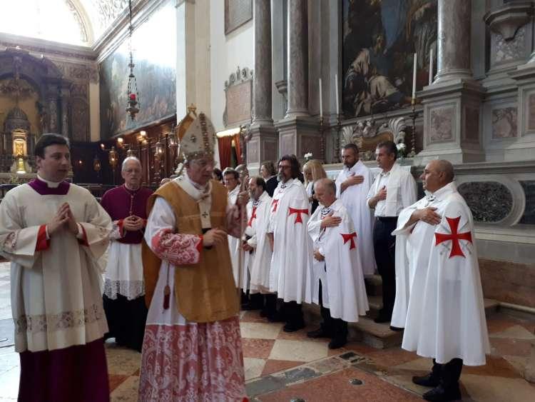I Templari Cattolici d'Italia partecipano alla Solenne Celebrazione dei Santissimi Pietro e Paolo presieduta da Sua Eccellenza il Patriarca Francesco Moraglia nella Chiesa Concattedrale di San Pietro in Castello a Venezia.