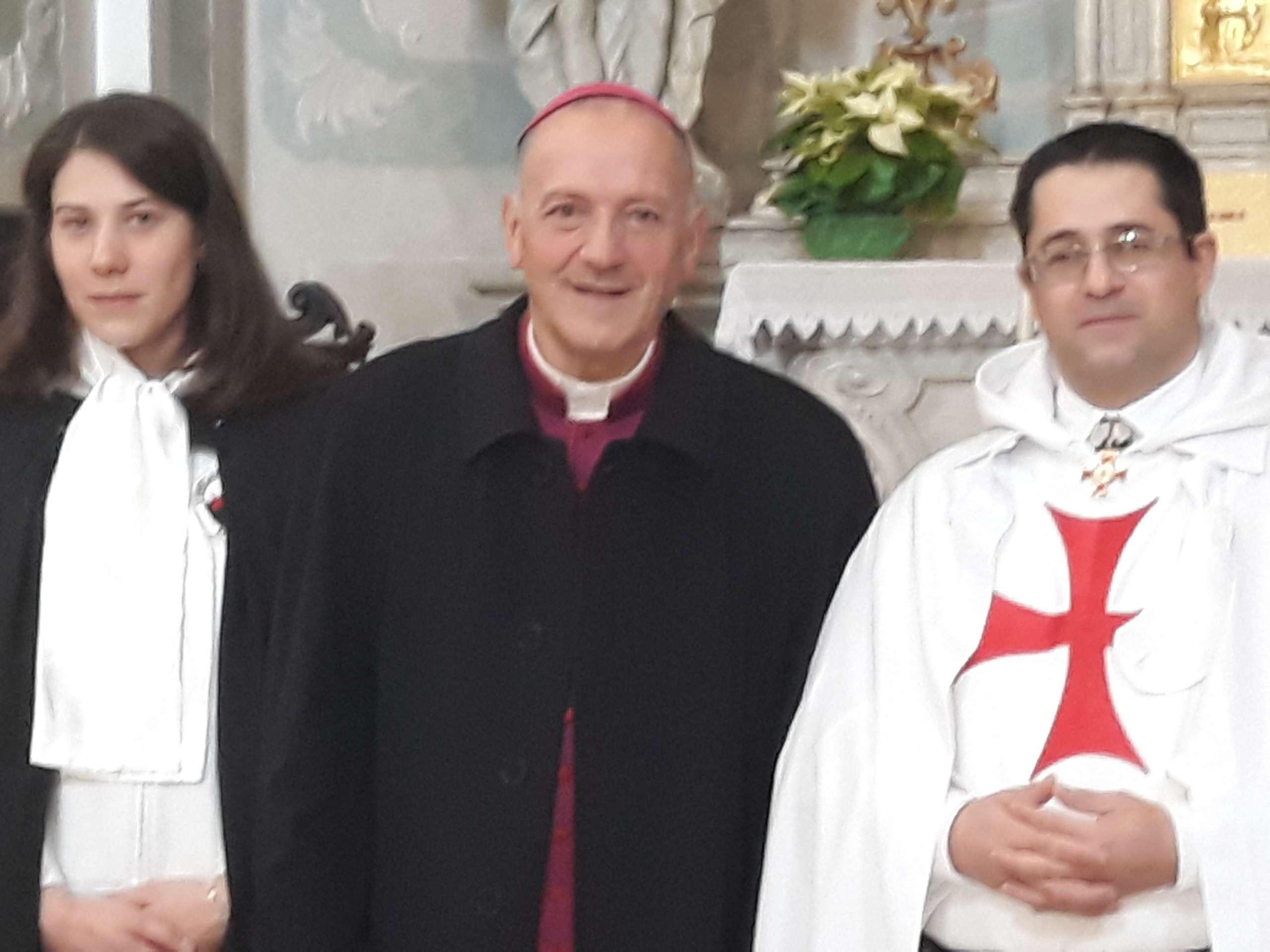 I Templari Cattolici d'Italia partecipano alla celebrazione eucaristica in occasione del Santo Natale a Pordenone