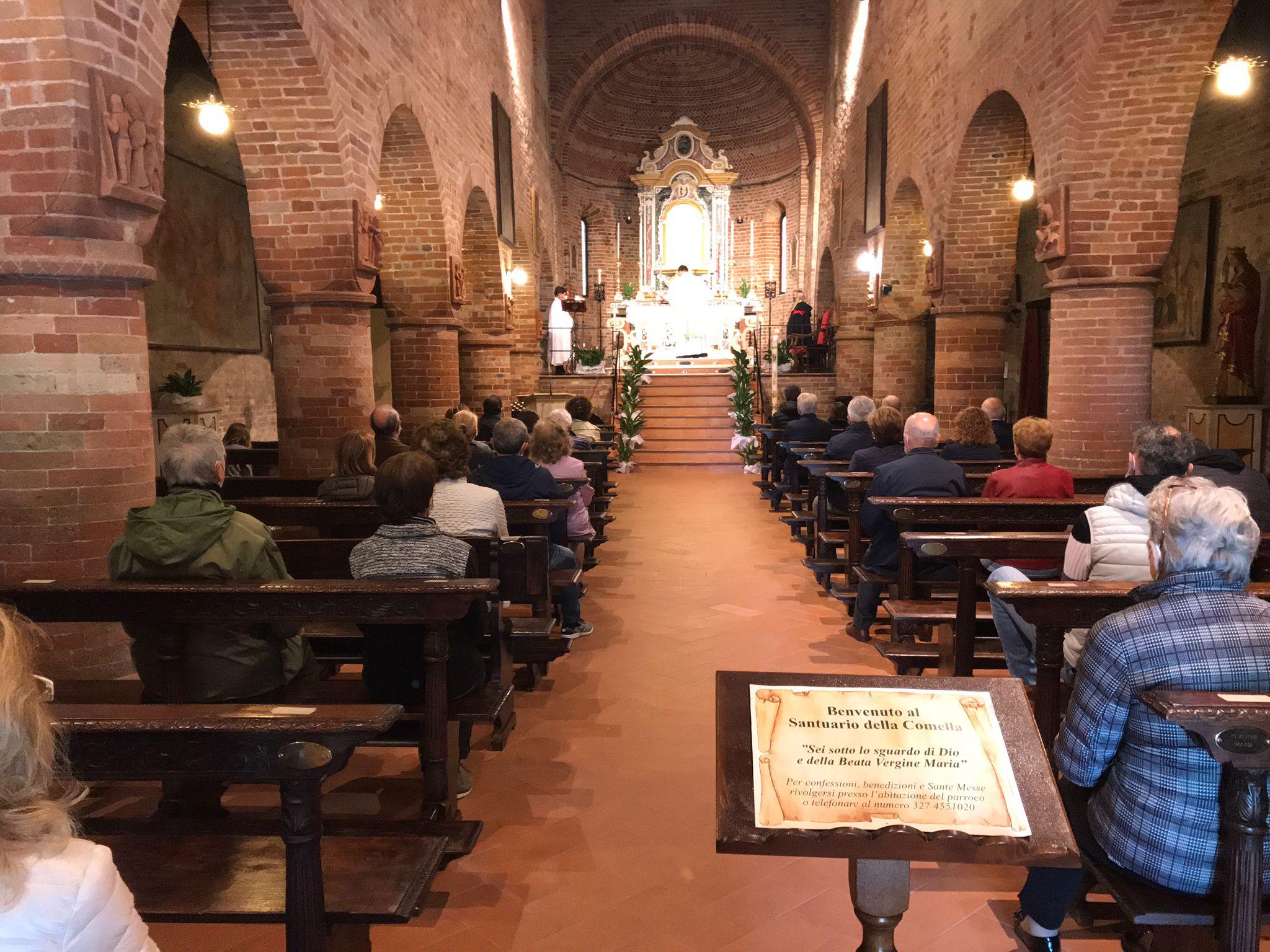 Partecipazione Santa Messa Santuario Santa Maria Annunciata della Comella – Seniga(BS) 02.05.2021