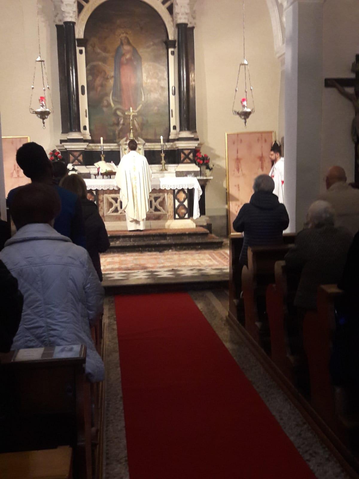 I Templari Cattolici d'Italia partecipano alla Santa Messa del primo venerdì del Mese a Gorizia.