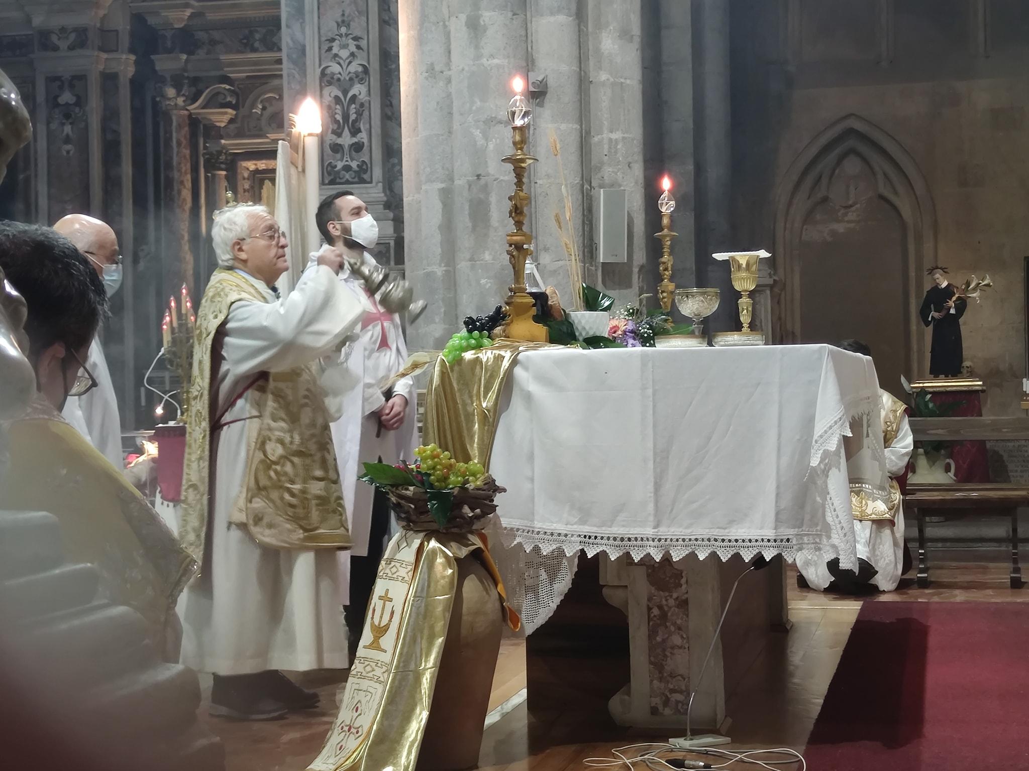 Rito solenne in Coena Domini 2021, Basilica di San Lorenzo Maggiore, Napoli