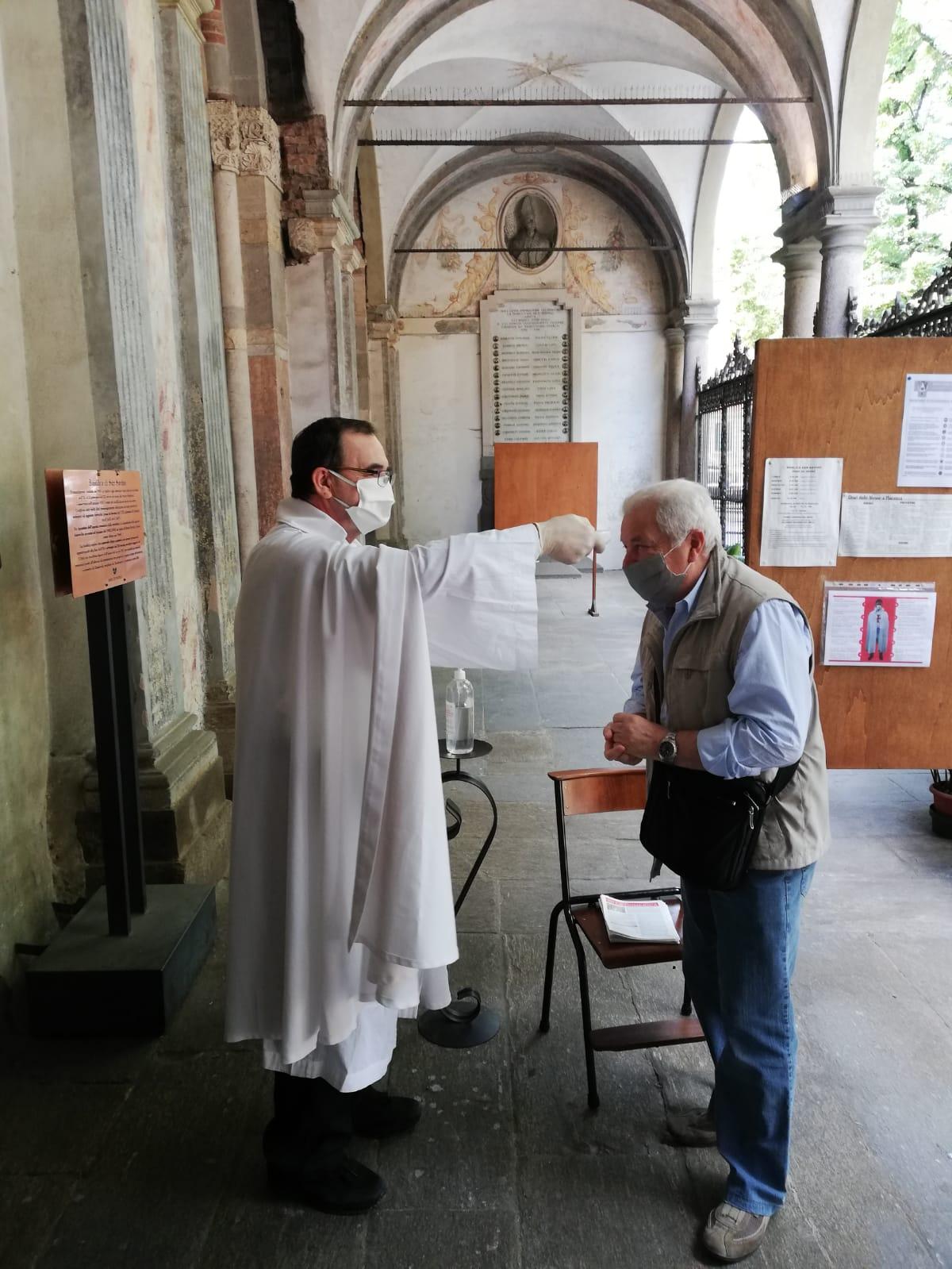 Custodia e S. Messa chiesa S. Savino a Piacenza (PC)