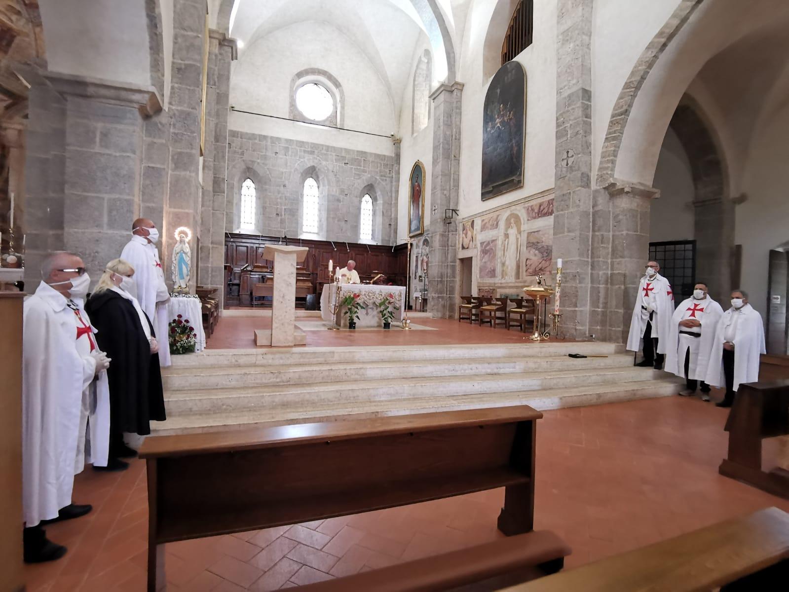 Turni di Custodia durante le Celebrazioni delle S. Messe del Sabato e della Domenica nell'Abbazia di Valvisciolo 06/07.06.2020