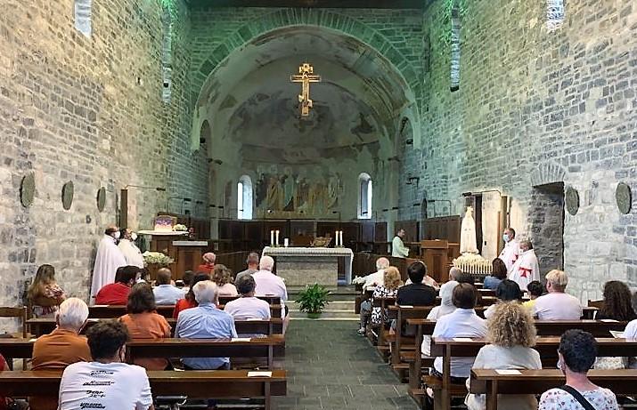 Teilnahme an der Heiligen Messe – Zisterzienserabtei S. Maria di Piona – Olgiasca(LC) 04.07.2021