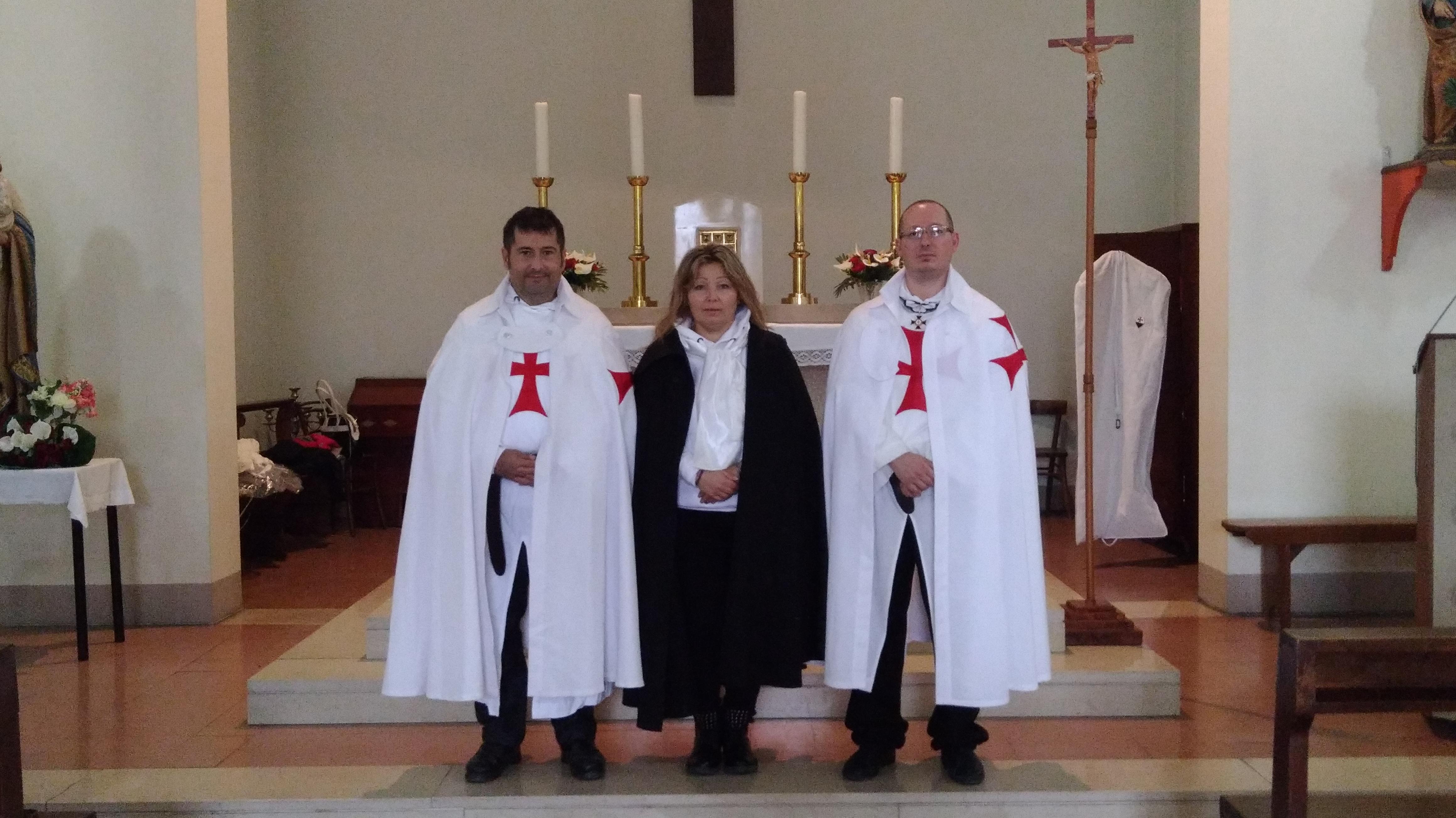 I Templari Cattolici d'Italia custodiscono la chiesa di San Giuseppe Lavoratore a San Miniato