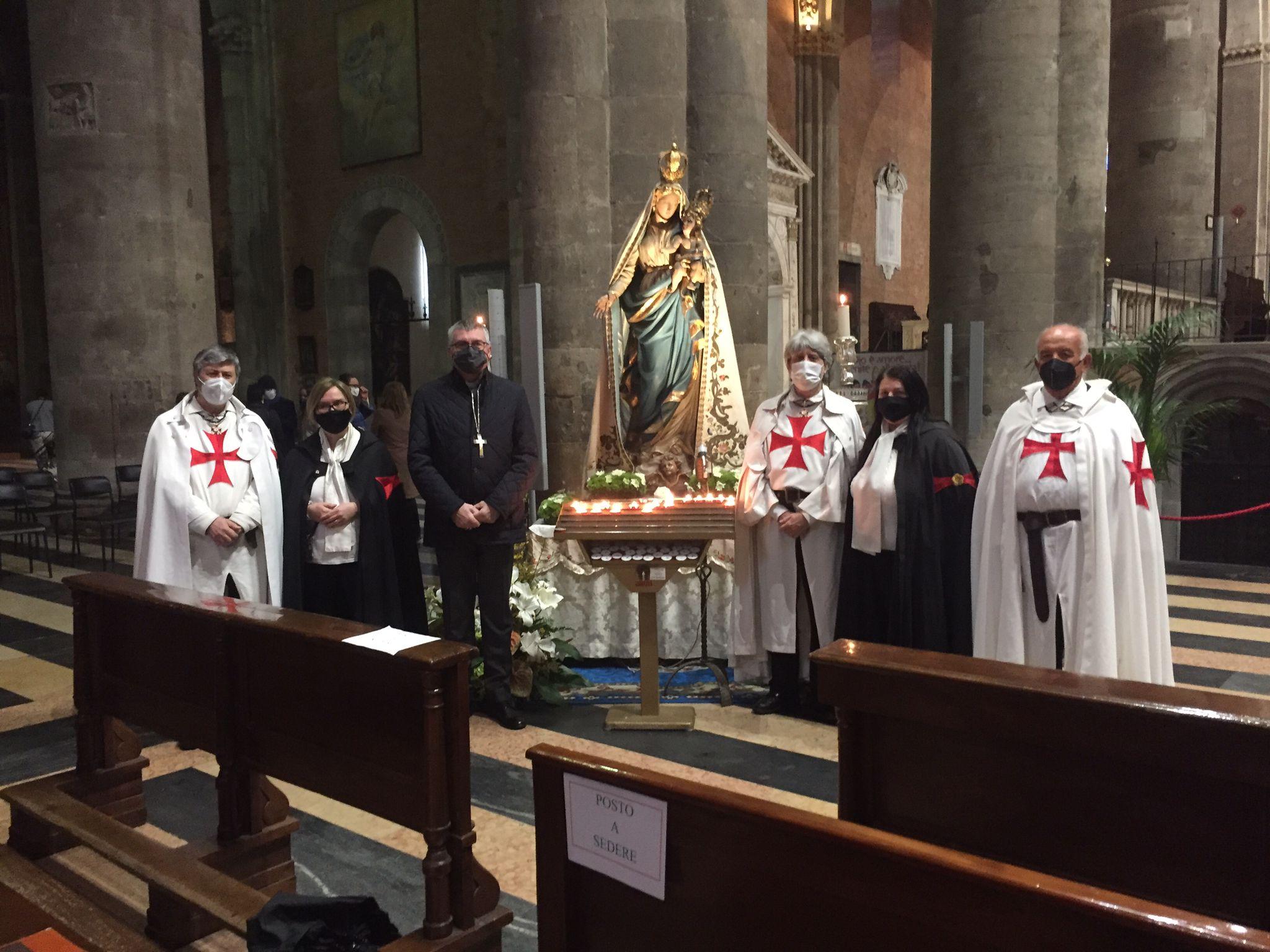 Teilnahme an der Heiligen Messe für die Muttergottes des Volkes im Dom von Piacenza 11.04.2021