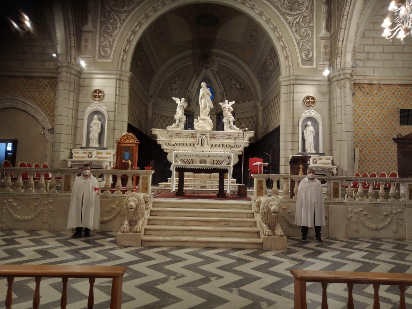 Heilige Messe in der Kathedrale der Unbefleckten von Ozieri (Ss) mit S.E. Giovanni Dettori, emeritierter Bischof der Diözese Ales-Terralba (Juli 2021)