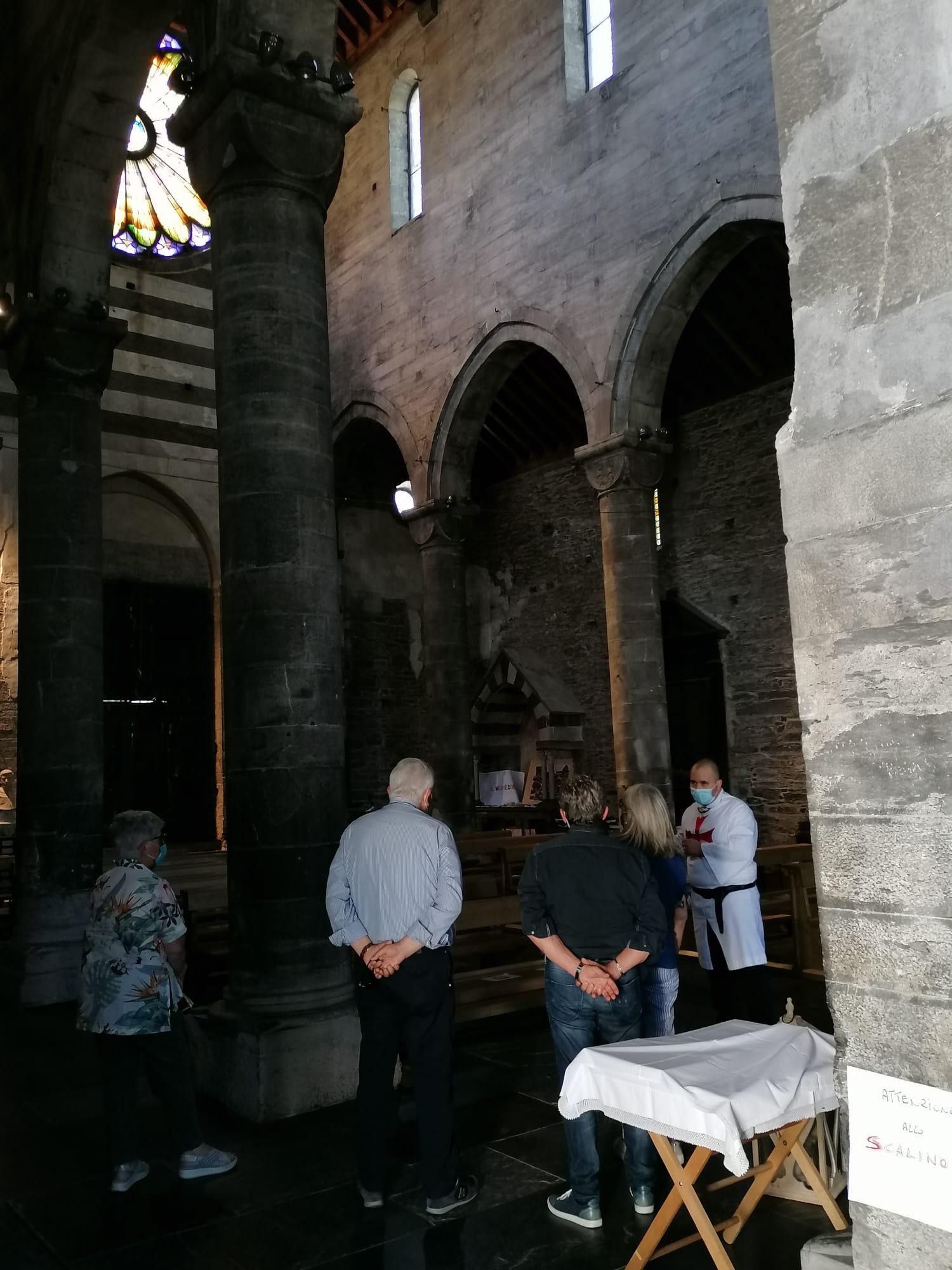 Kustodie des ersten Sonntags im Monat der Fieschi-Basilika in San Salvatore di Cogorno (Ge) (Juli 2021)