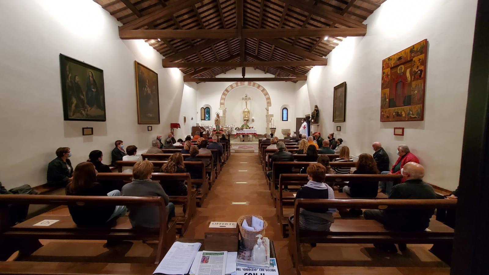 Partecipazione alla Santa Messa – Pieve della Trasfigurazione – San Salvatore (RN) 10.10.2020