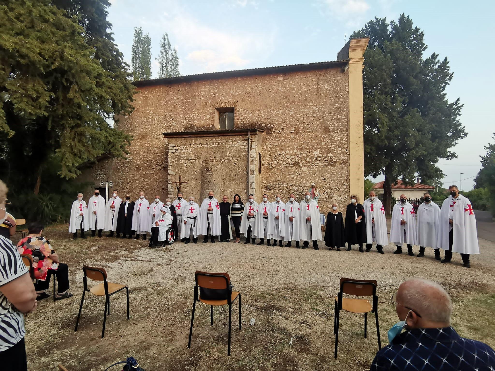 Custodia durante la Santa Messa Solenne dedicata alla Madonna del Fossato a Sermoneta Scalo (LT) 11.09.2021