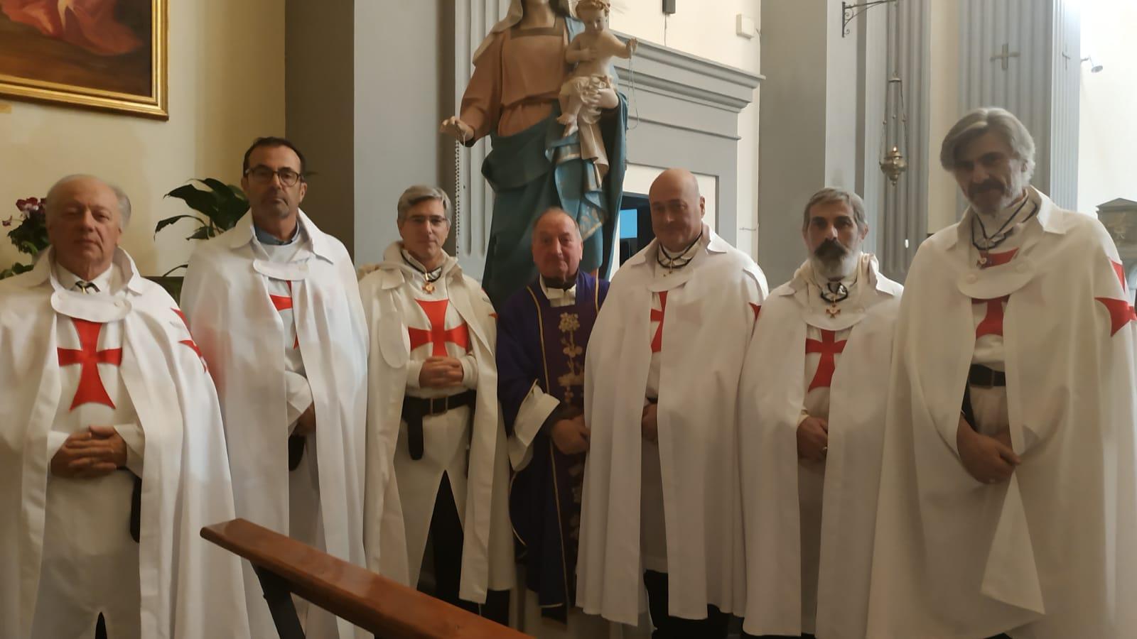 I Templari Cattolici d'Italia partecipano alla celebrazione del Santo Rosario ed, a seguire, Santa Messa presso la Chiesa di San Pietro ed Ilario a Castiglion Fibocchi, Arezzo.