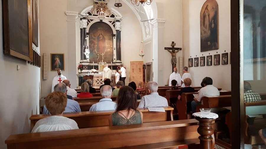 I Templari Cattolici d'Italia partecipano alla Celebrazione Eucaristica in occasione della festività dell'Assunzione presso la chiesa dell'Immacolata di Gorizia.