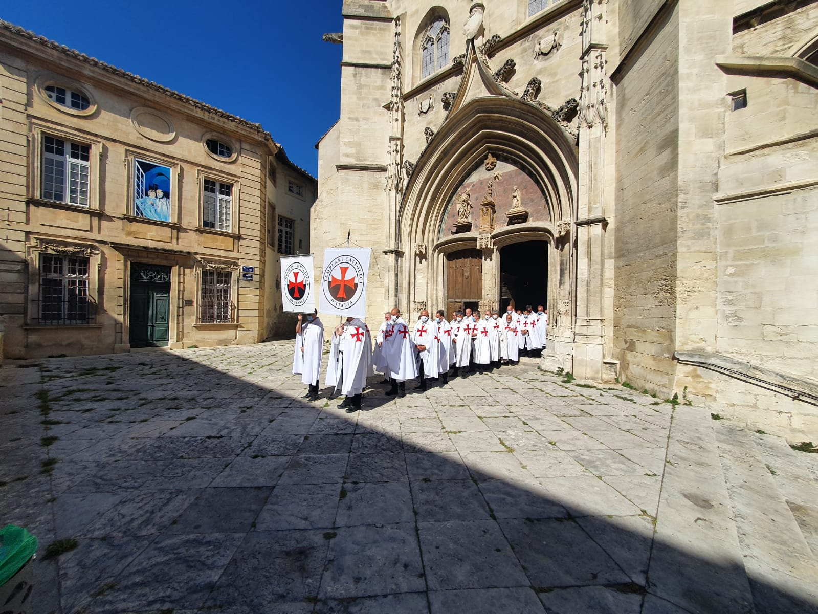 Spiritual retreat Catholic Templars 2020 – Holy Mass in the collegiate church of Sant'Agricola d'Avignone, in Avignon…