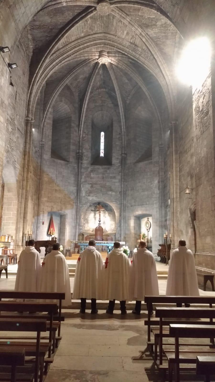 Les Templiers Catholiques de France participent à la Sainte Messe dans l'Abbaye de Saint Victor, en Marseille