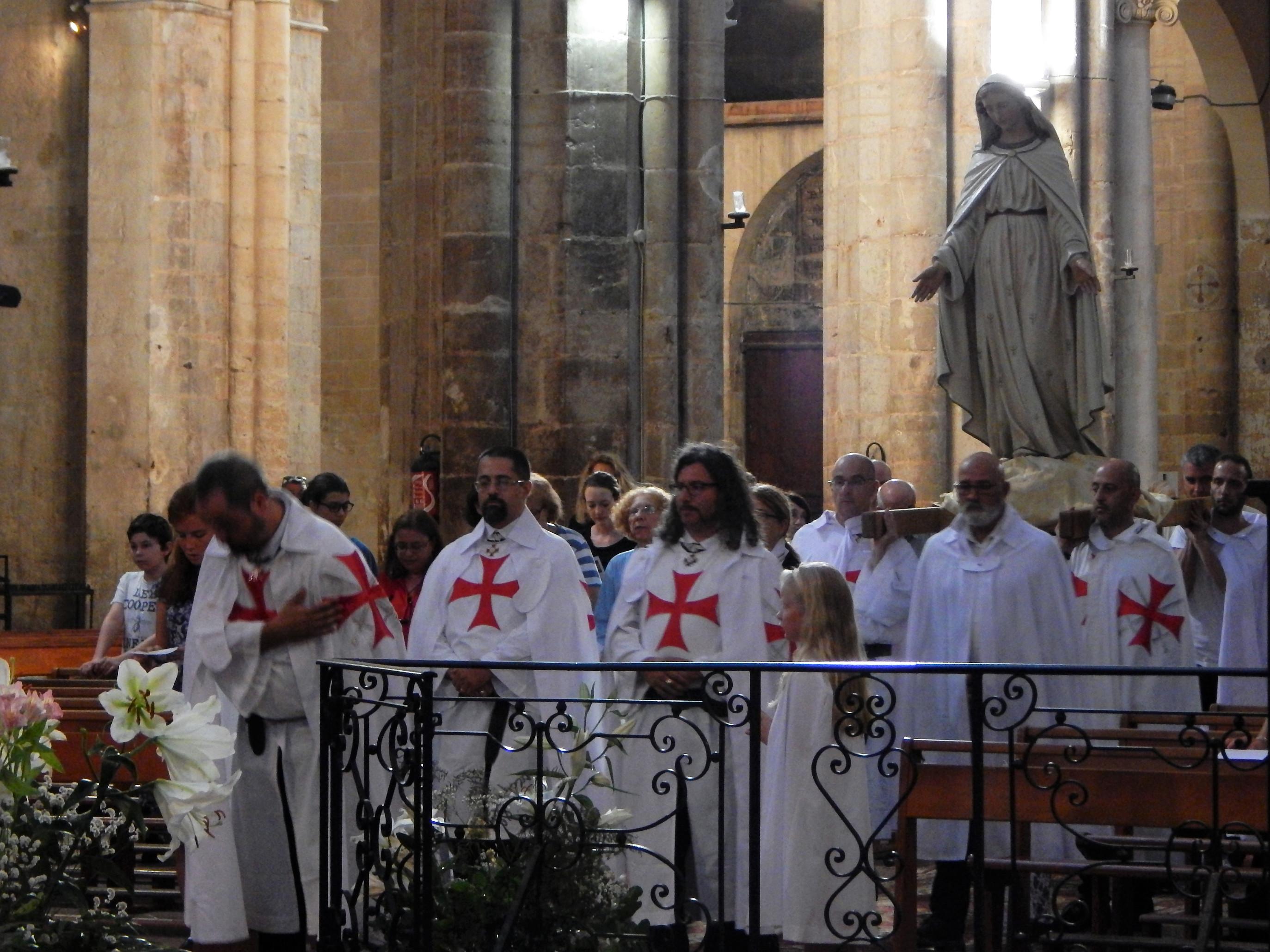 Les Templiers Catholiques de France a Saint Maximin pour la fête de l'Assomption de la Vierge Marie