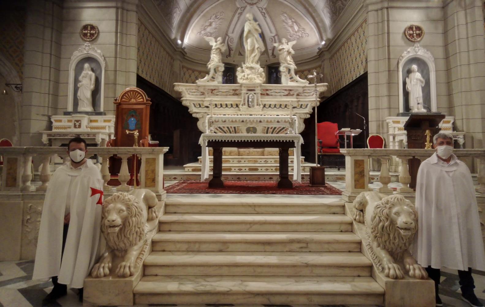 Santa Messa e turno di custodia nella Cattedrale dell'Immacolata di Ozieri (Sassari) (Luglio 2021)