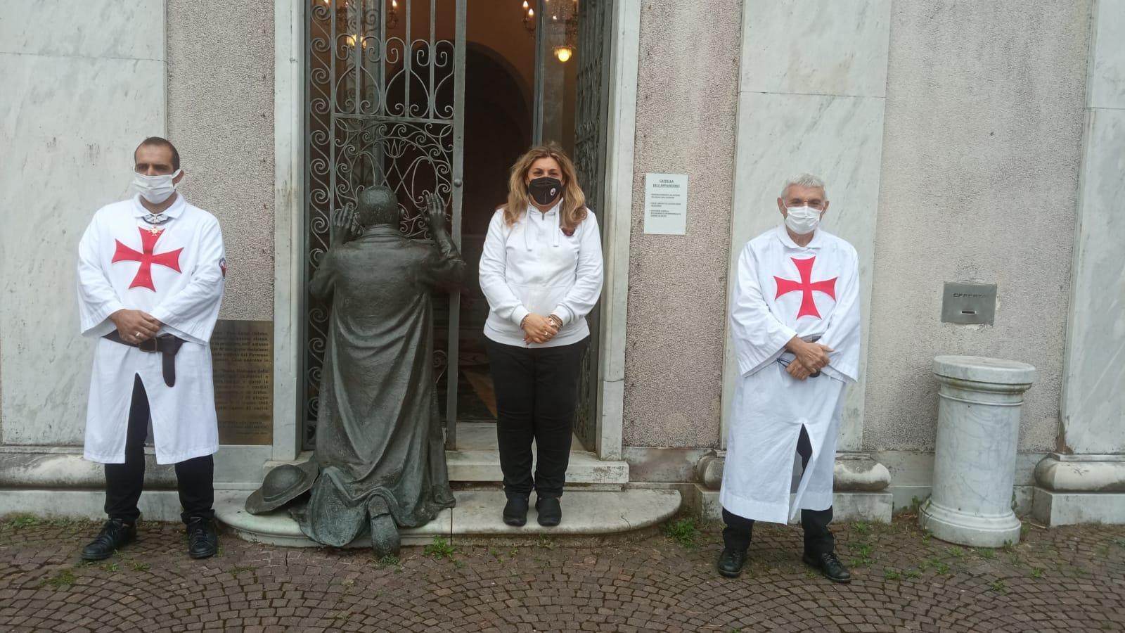 Custodia della cappelletta dell'apparizione e Santa Messa nel Santuario di Nostra Signora della Guardia a Genova (Settembre 2021)