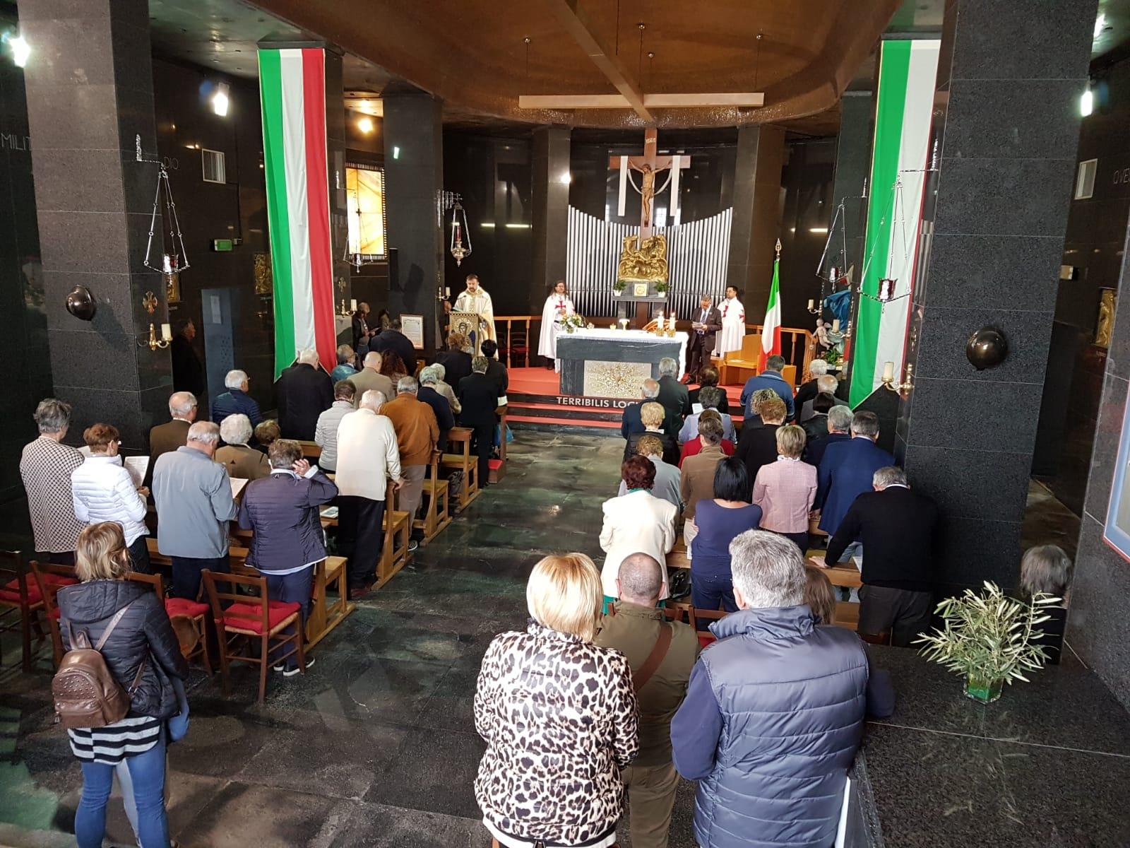 I Templari Cattolici d'Italia partecipano alla Solenne Celebrazione Eucaristica in occasione della Santa Pasqua presso il Sacrario Militare di Redipuglia.