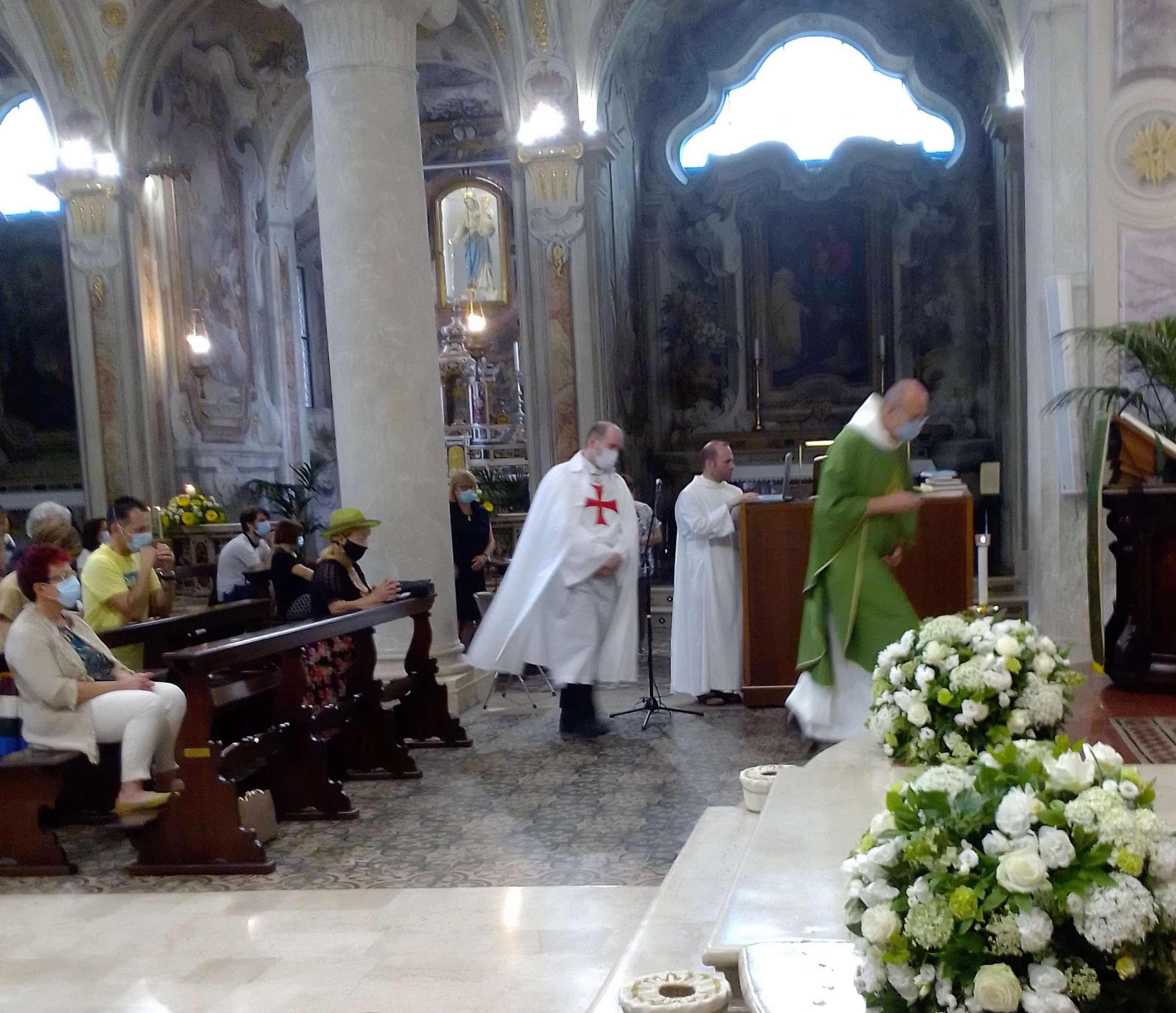 Teilnahme an der Heiligen Messe in der Olivetanischen Abtei von Rodengo Saiano(BS) 20.06.2021
