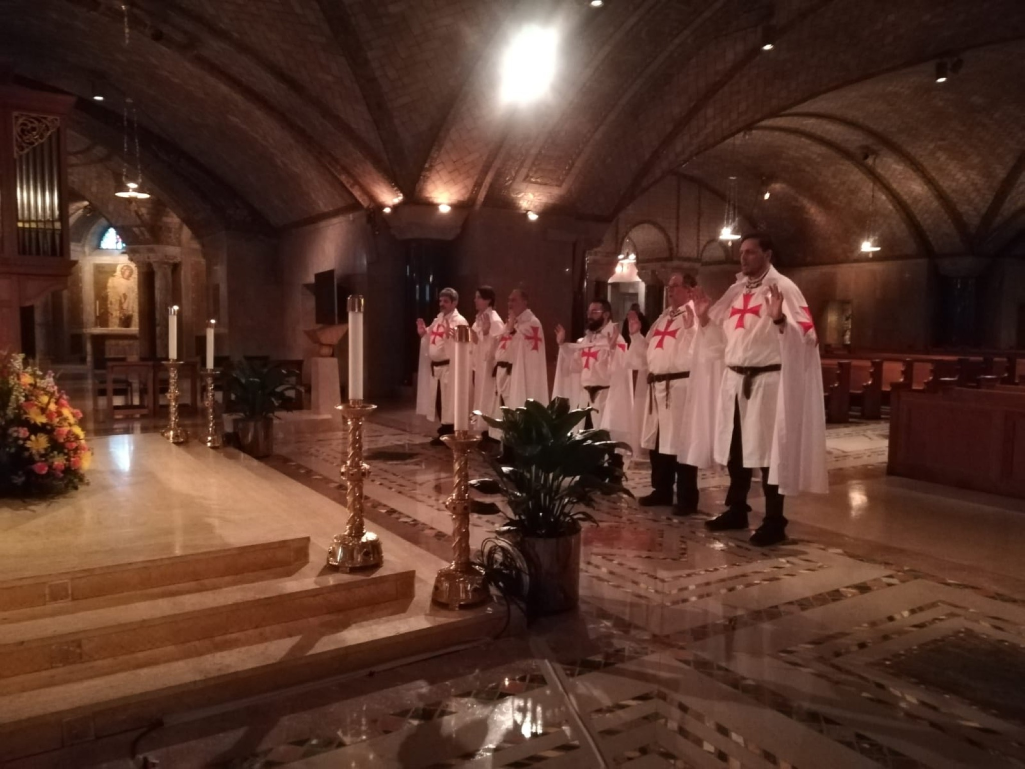 The Catholic Templars participate to the holy mass for the Vigil for Life 2020 and to the night vigil and rosary in the National Shrine, Washington DC, USA