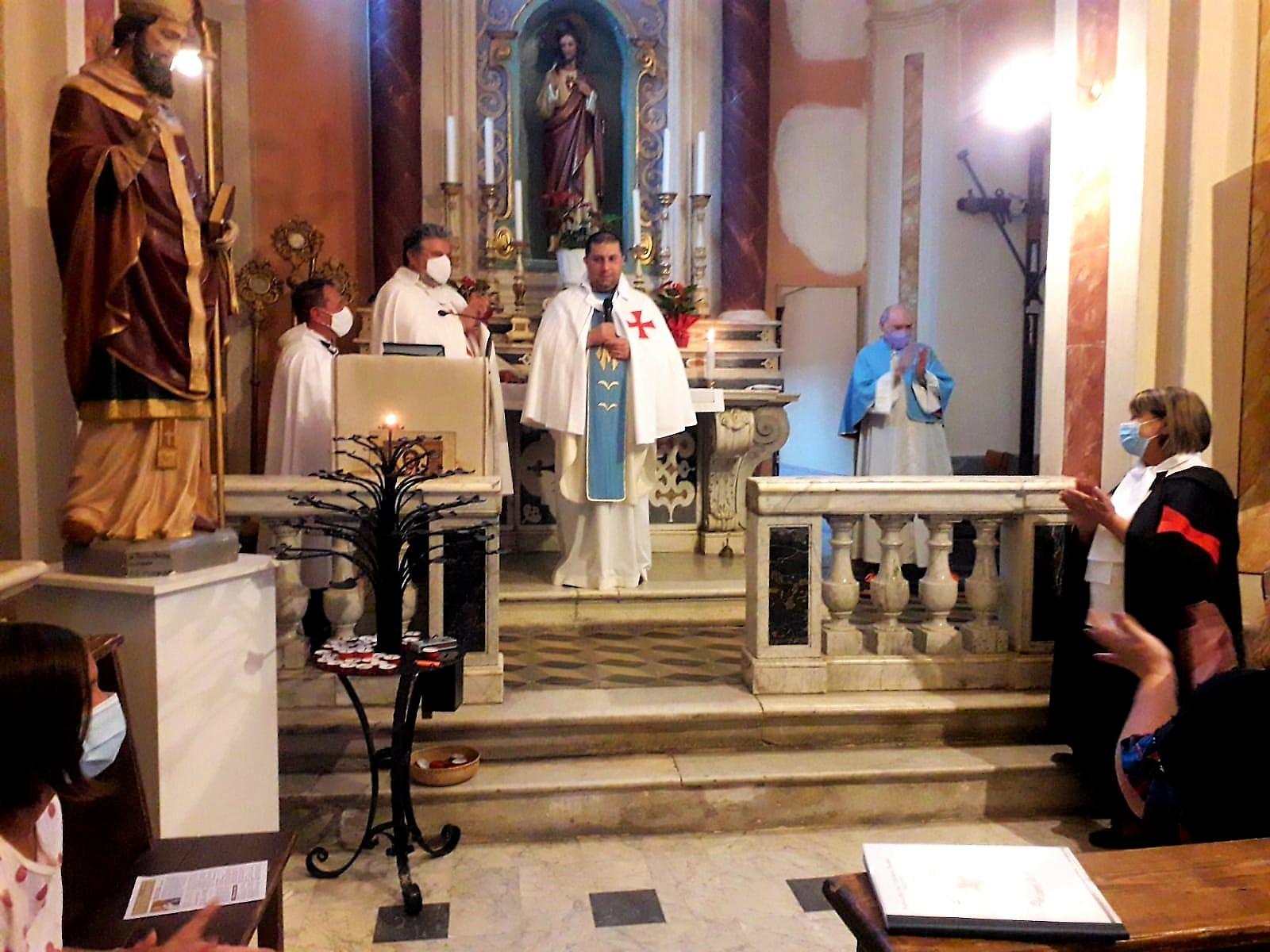 Custodia in occasione della festività di Santa Maria Assunta – Chiesa di San Tommaso Becket – Pallerone (MS) 15.08.2021