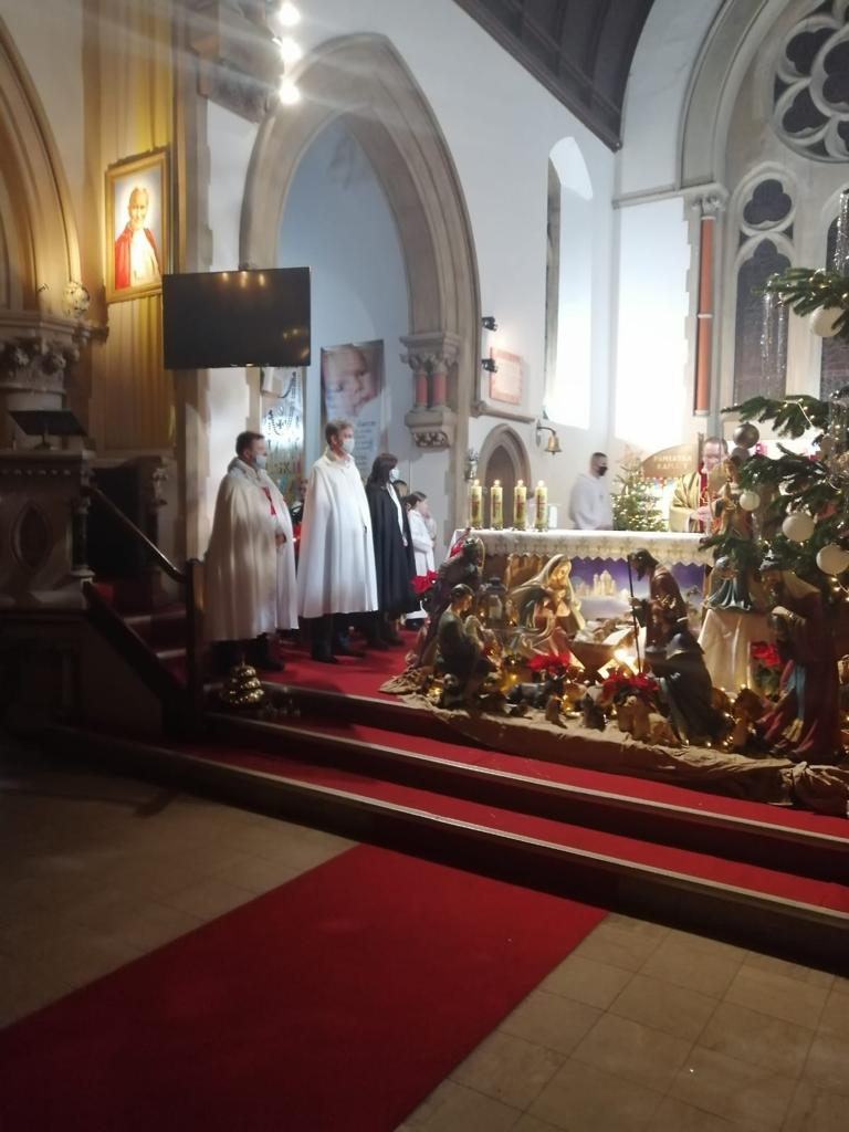 Templars' Presence during Christmas Eve's Holy Mass in Reading, UK