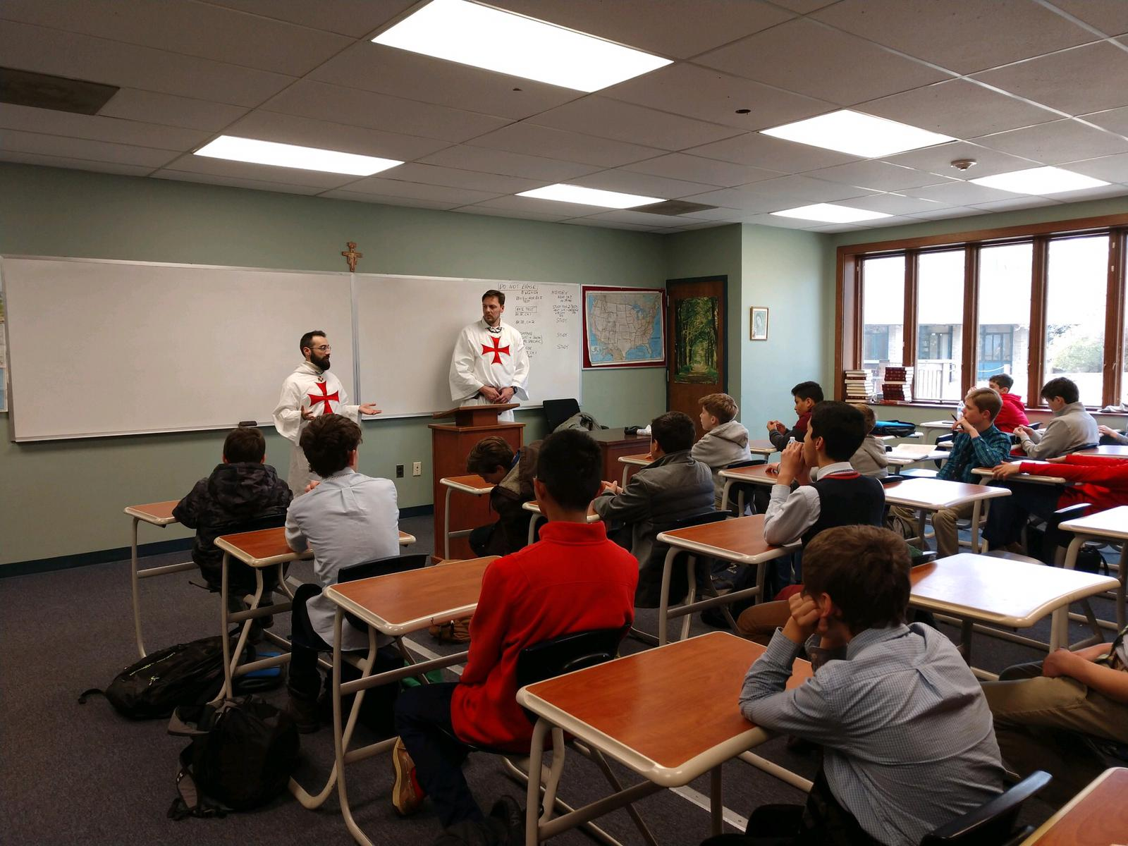 The Catholic Templars are invited to speak to the boys of the Heights School, Maryland, USA