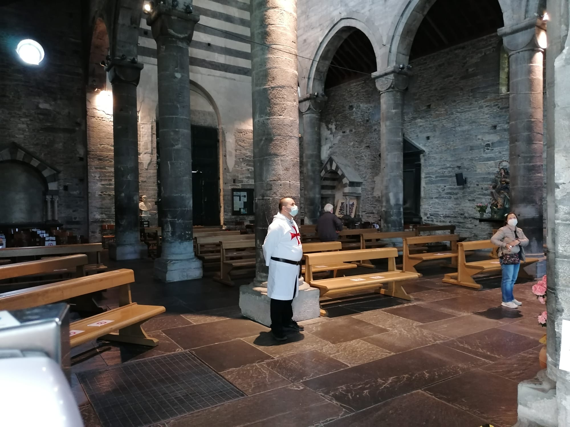 Custodia della Domenica pomeriggio della Basilica dei Fieschi a San Salvatore di Cogorno (Ge)(Aprile 2021)