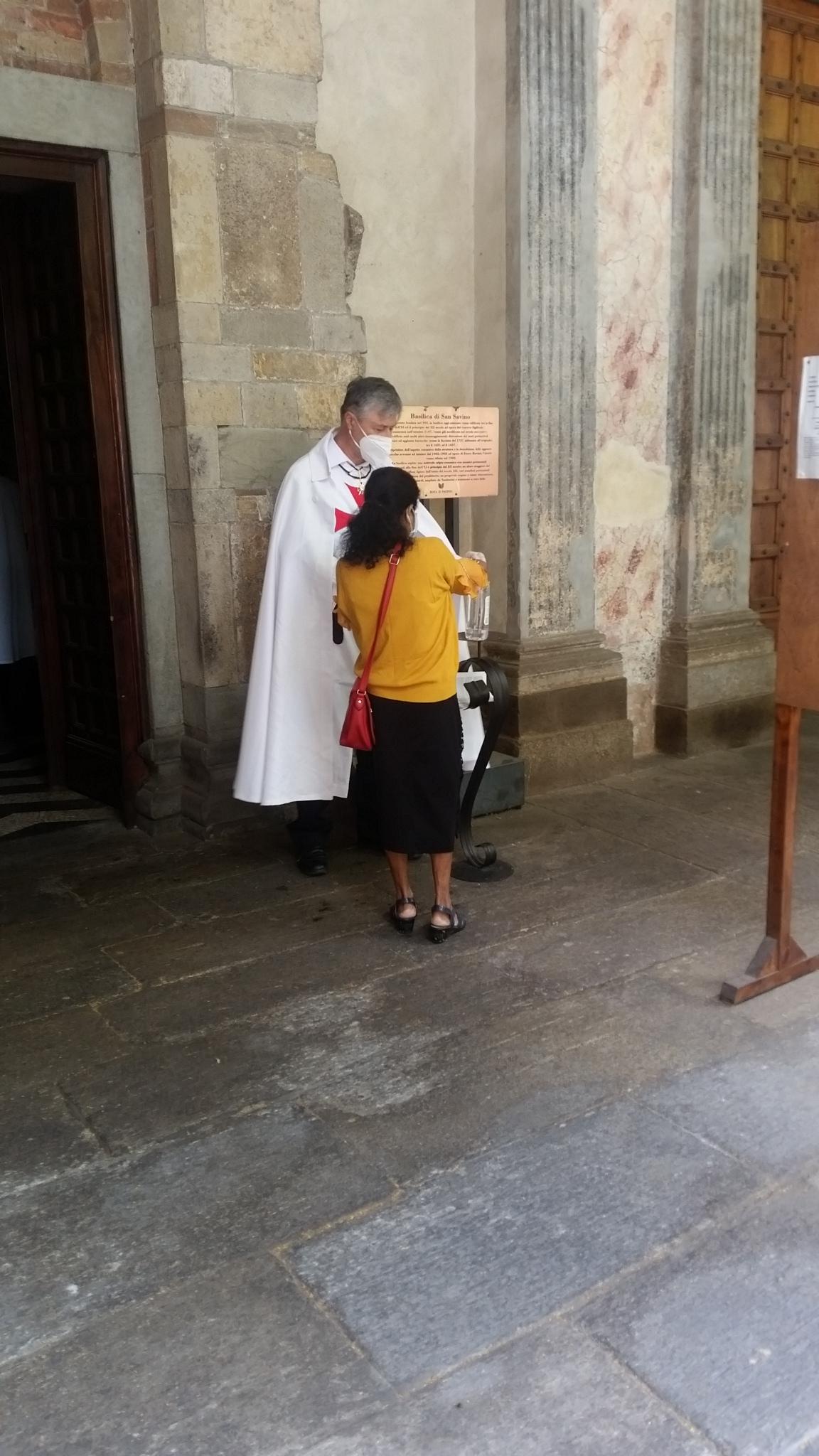 Custodia chiesa di S. Savino (PC) giugno 2020