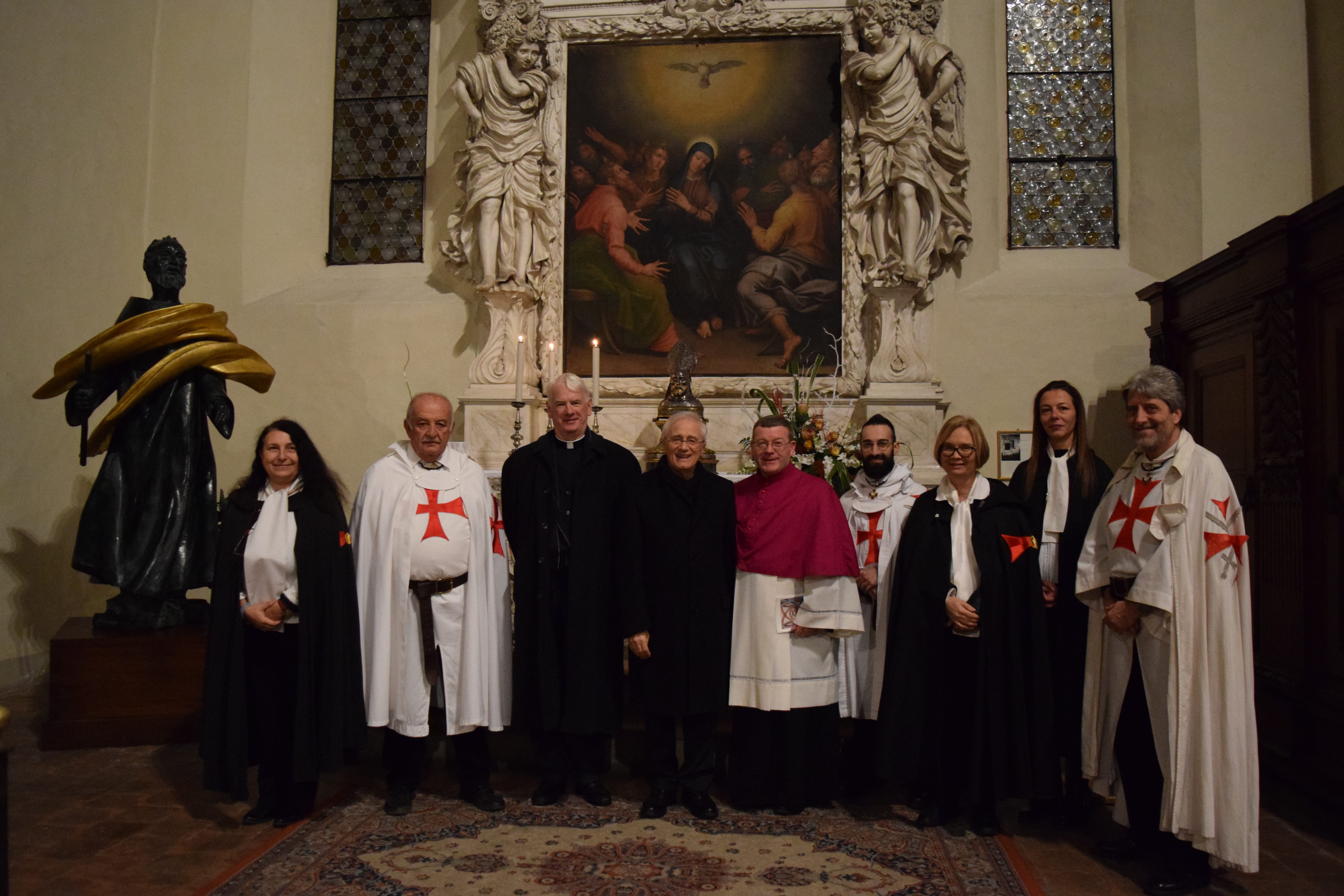 With the Bishop of Belfast on 22 and 23 November the Catholic Templars take part in the solemn celebrations for the feast of San Colombano in Bobbio.